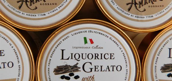 Liquorice Gelato with AMARELLI